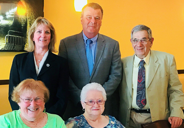 Senator Joan Lovely, Representative Tom Walsh, Jerry Halberstadt, Mary Margaret Moore, Susan Bonner