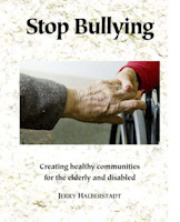 Cover art Stop Bullying, closeup of two elderly women holding hands